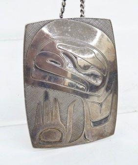 Norman Tait (b.1941 Nisga'a) Silver Human Pendant