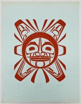 Roy Vickers (b.1946 Tsimshian) ''the Sun'' 1975