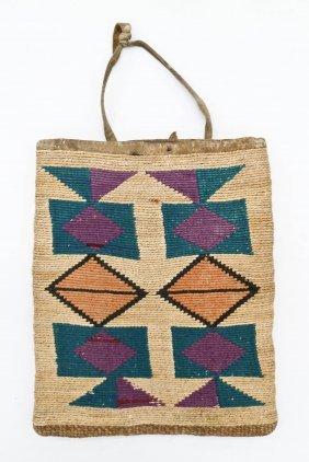 Old Columbia River Cornhusk Bag 10''x8''. Basketry Bag