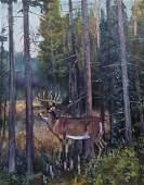 William Bailey (b.1944 American) Untitled Deer in