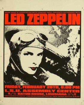 Led Zeppelin Original Printers Proof Concert Poster
