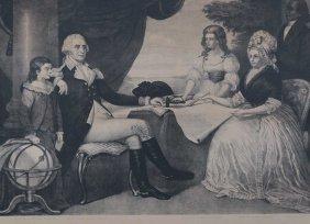 Washington Family By Edward Savage (american,