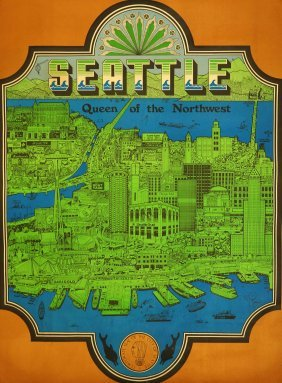 Ed Langley [seattle] Poster, 1970, 40'' X 29 3/4'' Good