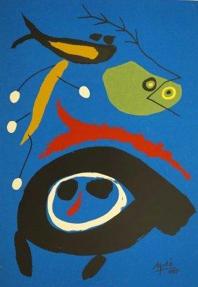 Joan Miro (spanish, 1893-1983) Vintage Color