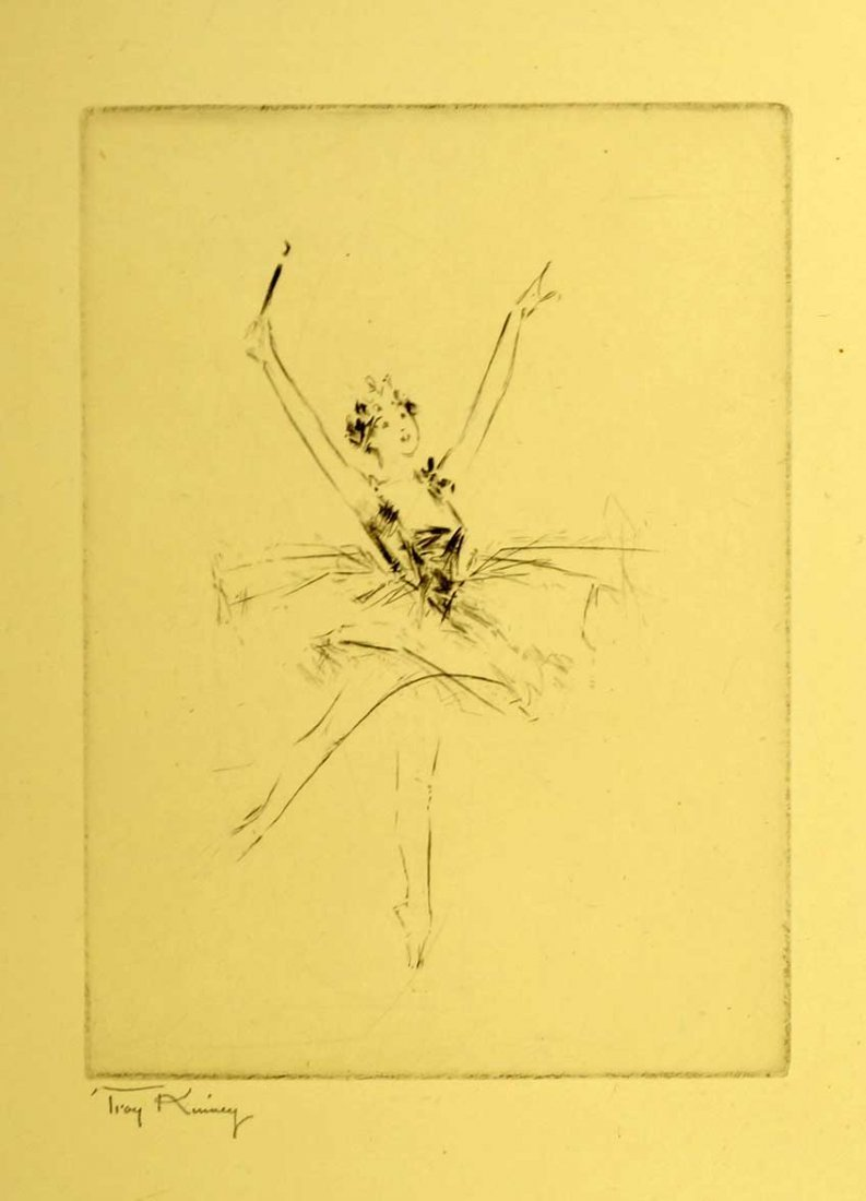 Troy Kinney (American, 1871-1938) Signed Etching