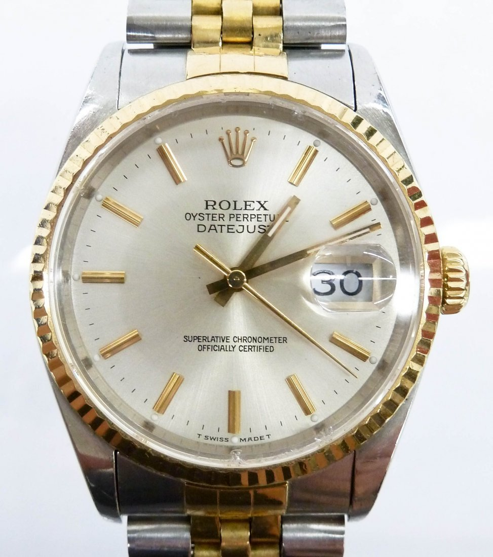 Men's Rolex Oyster Perpetual Datejust Wristwatch.