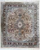 A Fine Silk Oriental Room Size Rug 8x10 Floral field
