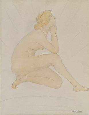 Auguste Rodin (1840-1917 French) Seated Female Nude