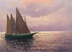 Guido Odierna (1913-1991 Italian) Seascape with