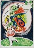 Marc Chagall Pencil Signed Lithograph 29.5''x22.25''