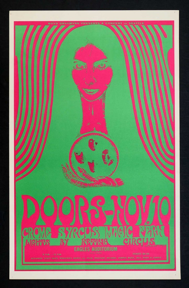 The Doors Original 1967 Eagles Auditorium Seattle,