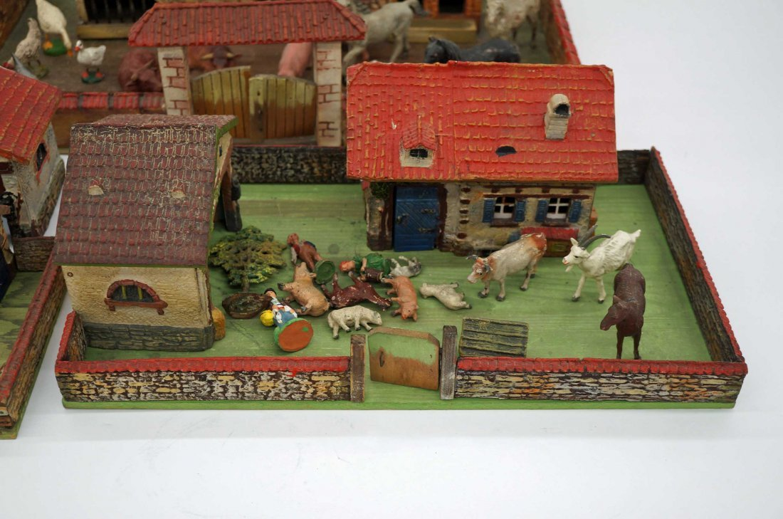 Group of Elastolin Farmyard Sets with Houses & Figures - 2