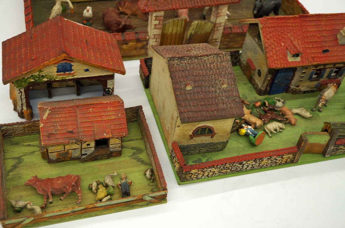 Group of Elastolin Farmyard Sets with Houses & Figures - 3
