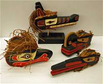 Group of First Nations Carved masks including Clifford