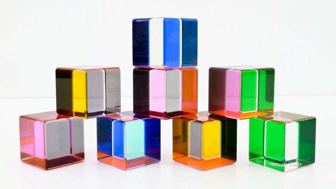 Vasa Velizar Mihich (b.1933 American) Eight Cubes 1989