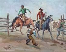 Fred Oldfield (b.1918 Washington) Untitled Cowboys 1971