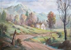 Fred Oldfield (b.1918 Washington) Goldendale Landscape