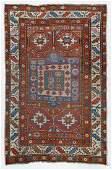 Semi Antique Caucasian Kazak Rug 3'6''x5'6''. Light