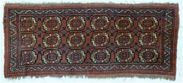3pc Antique Turkish Bokhara Scatter Rugs Lot includes