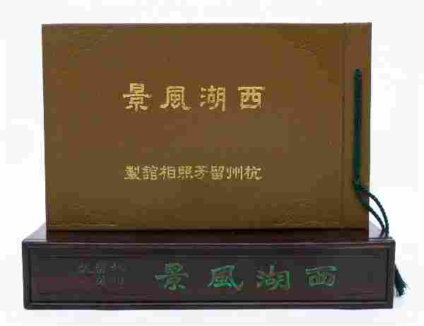 Antique Chinese Views Photo Album in Rosewood