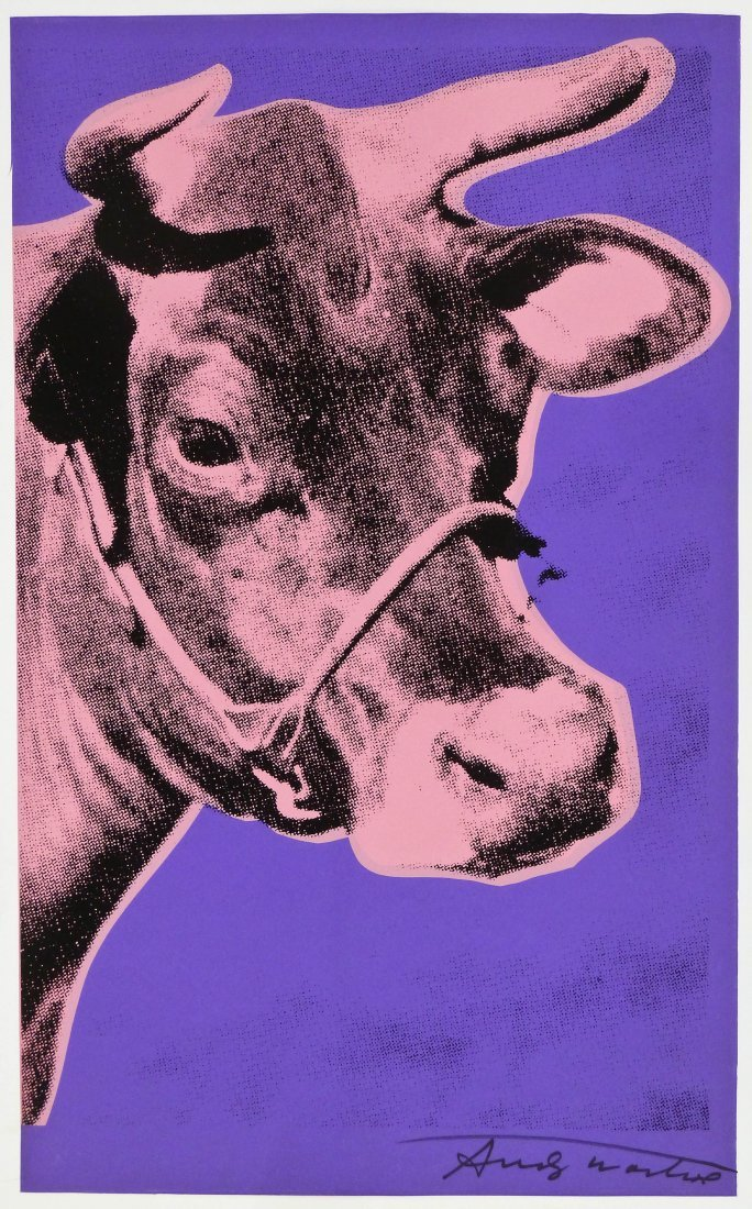 "Andy Warhol (1928-1987 New York) ""Cow 12A"" (Pink Cow wi"