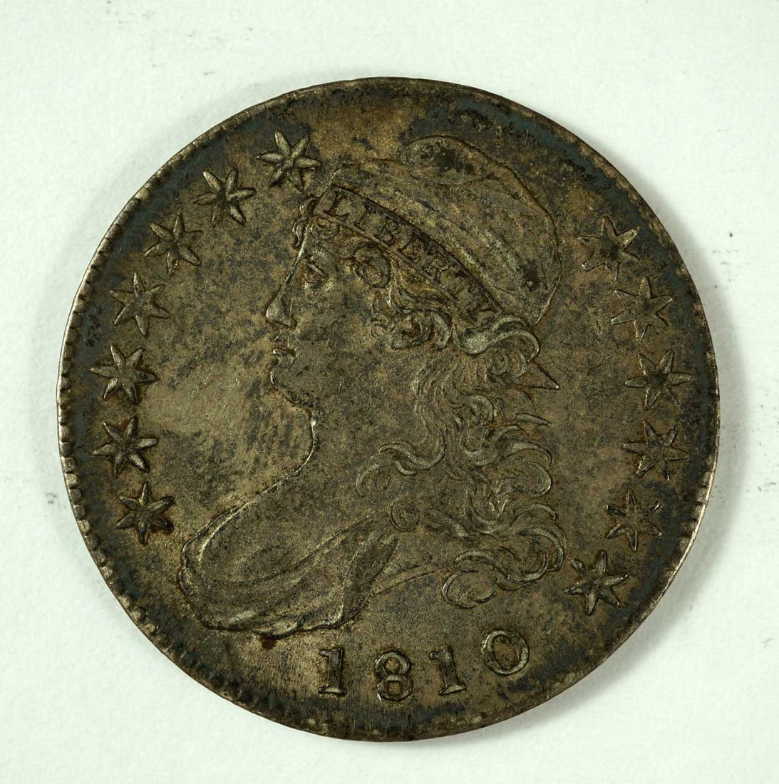 1810 US Capped Bust Half Dollar, Lettered Edge