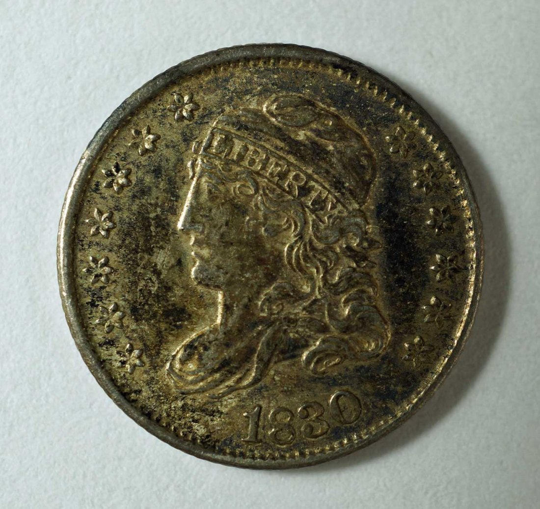 1830 US Silver Capped Bust Half Dime 5 cent