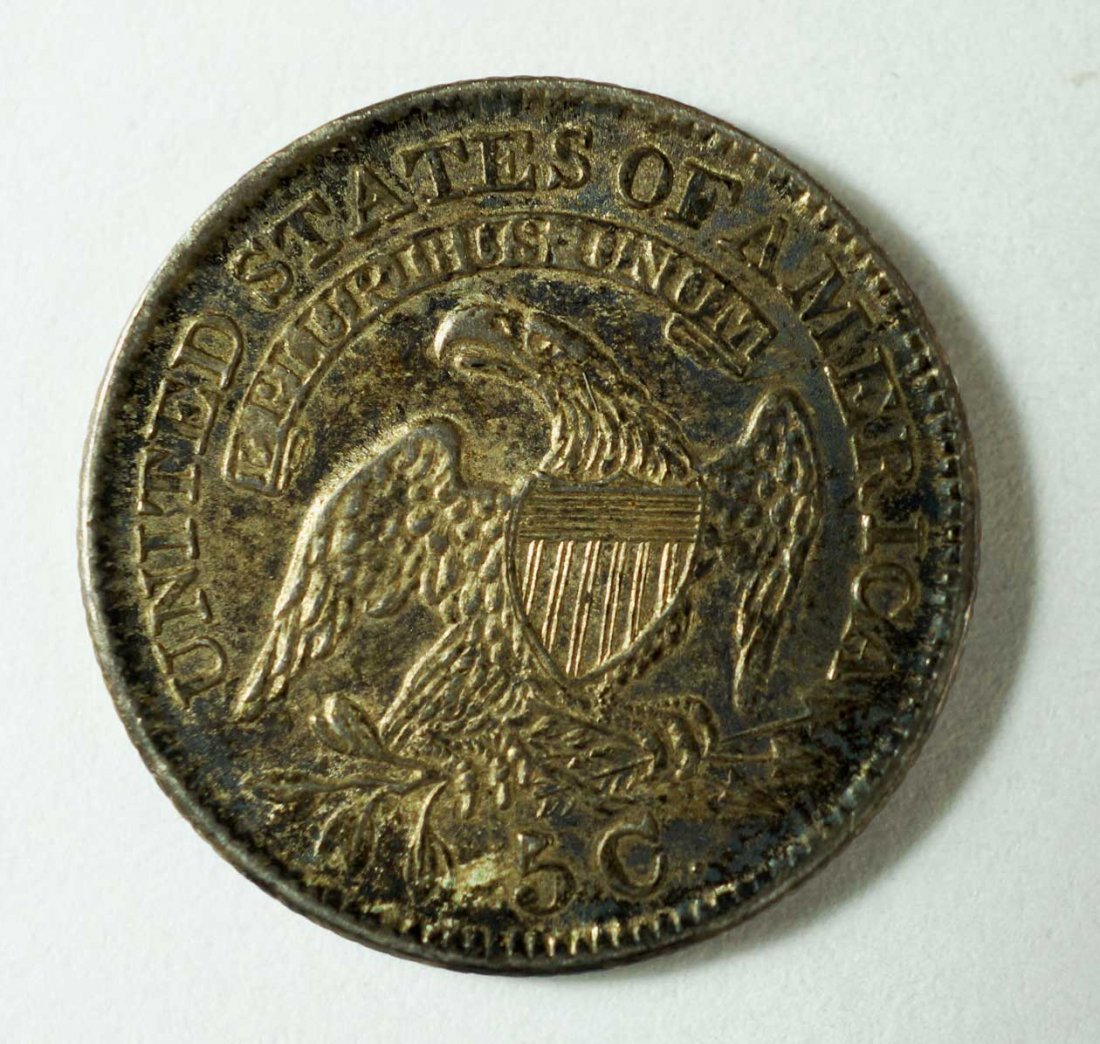 1830 US Silver Capped Bust Half Dime 5 cent - 2