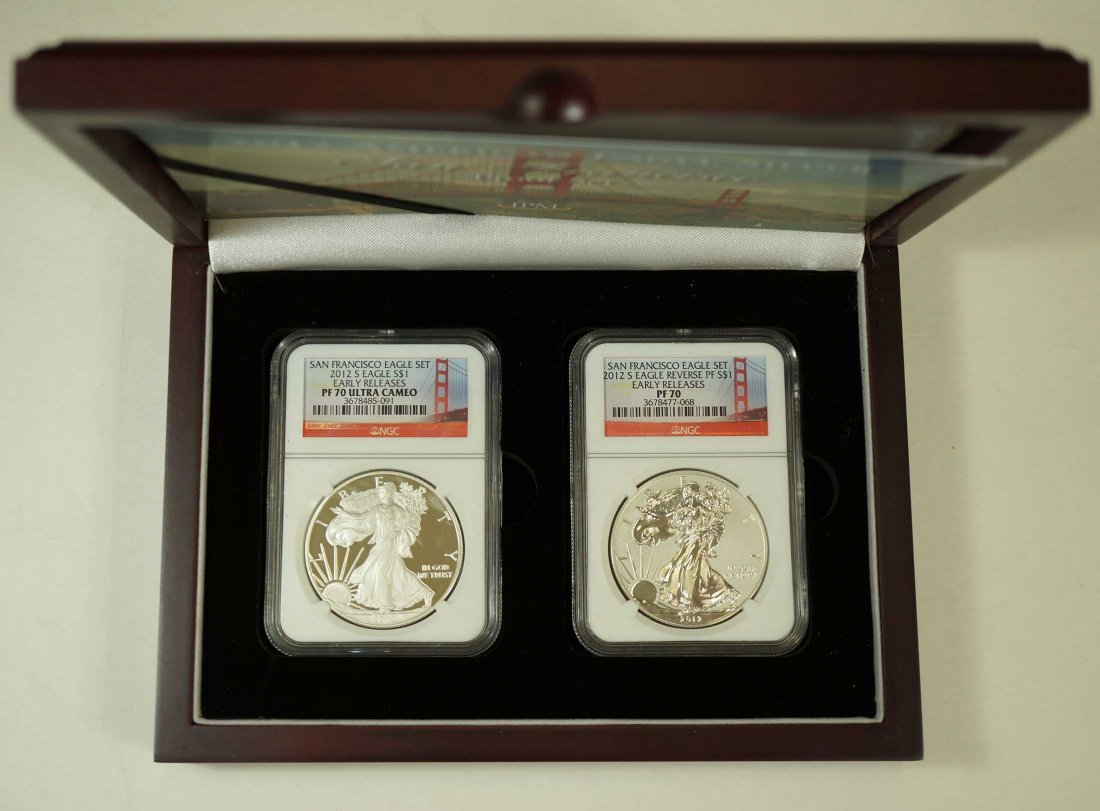 San Francisco Eagle Set, 2012-S Eagle $1, (2) Early - 2