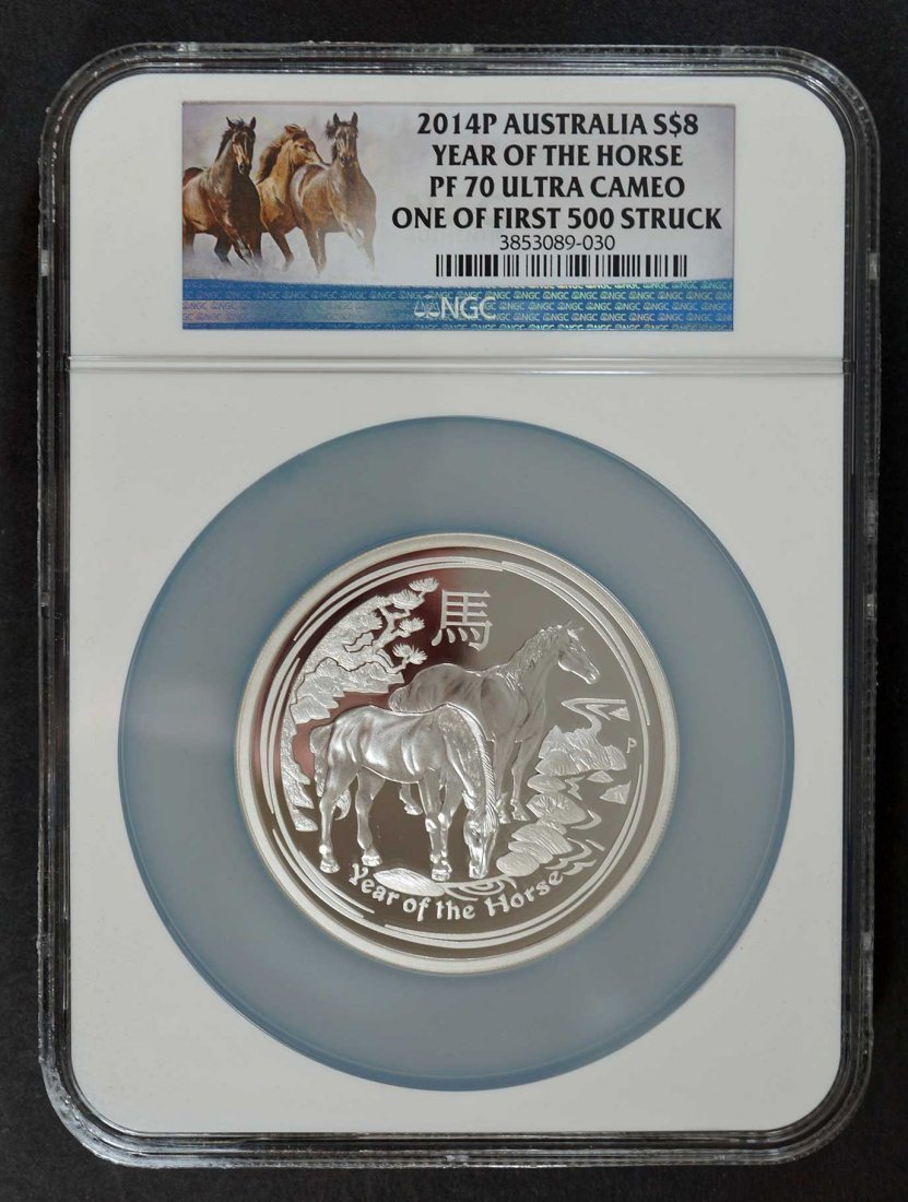 Australia 2014-P Silver $8 Year of the Horse PF70 Ultra