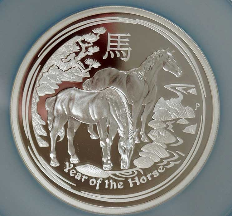 Australia 2014-P Silver $8 Year of the Horse PF70 Ultra - 2
