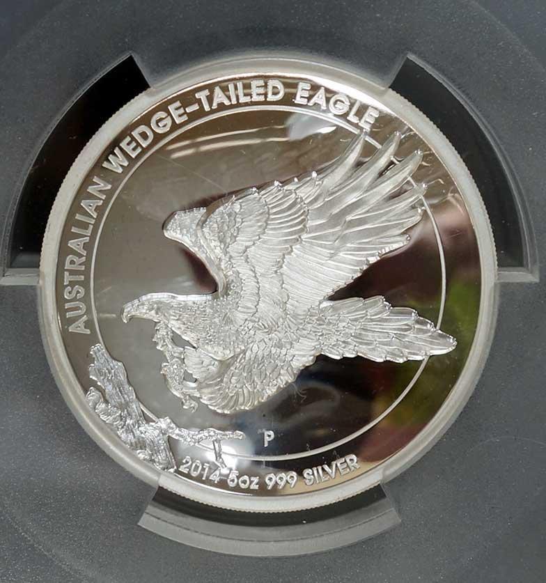 Australia 2014-P Wedge-Tailed Eagle $8 5 ounce .999