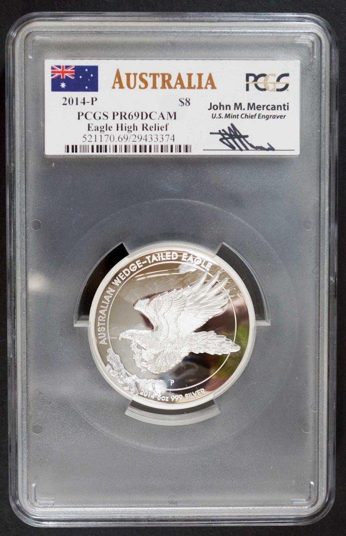 Australia 2014-P Wedge-Tailed Eagle $8 5 ounce .999 - 2