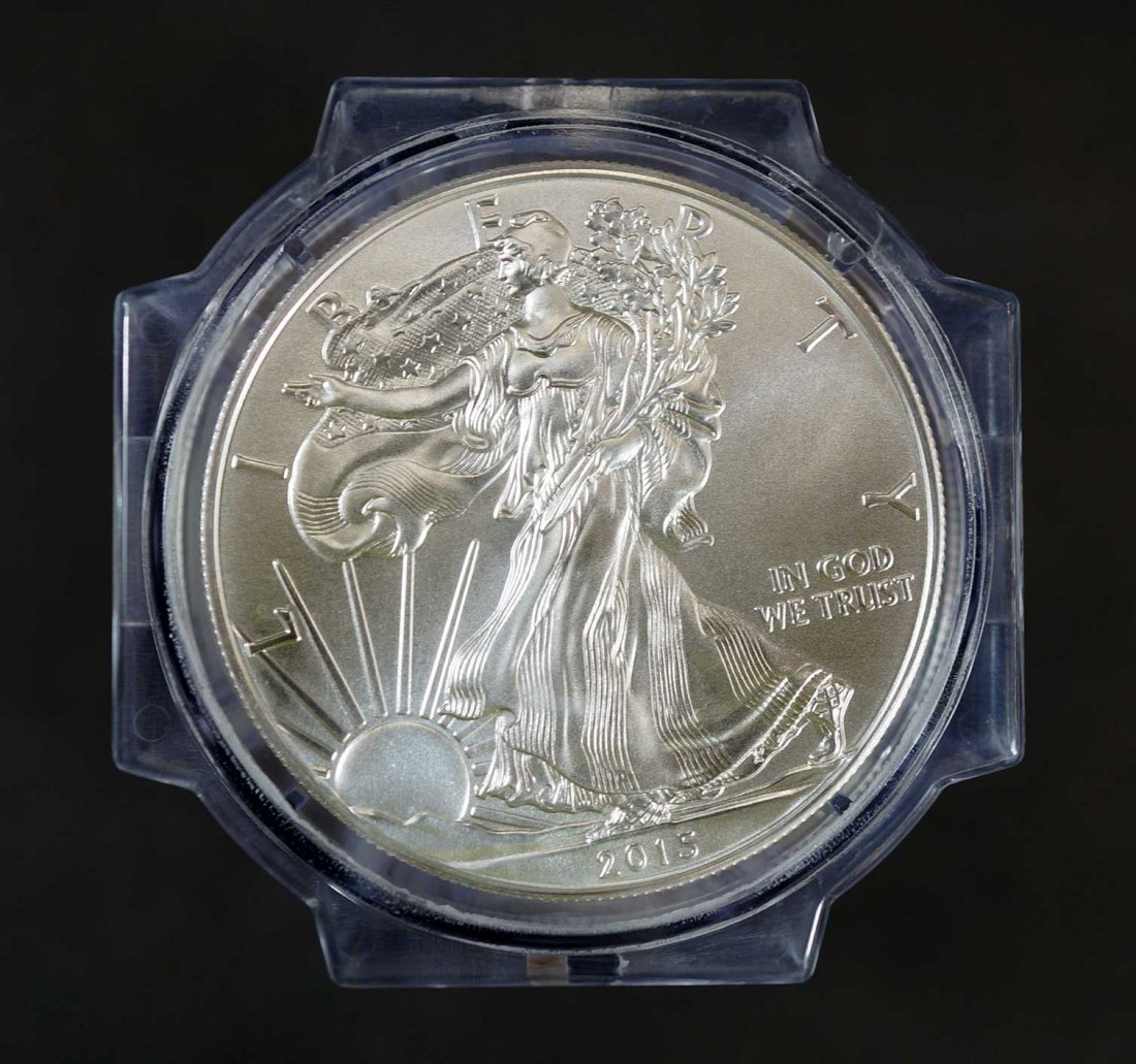 2015 Sealed Roll of (20) Silver Eagles $1, First Day of