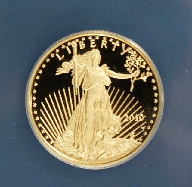 Gold 2010-W American Gold Eagle $10, 1/4 ounce ANACS