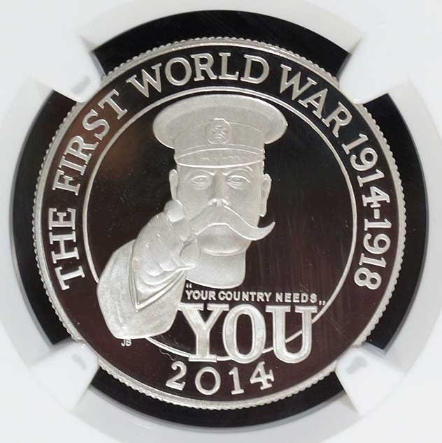 Platinum Great Britain 2014 100 pounds, 1 ounce Coin,
