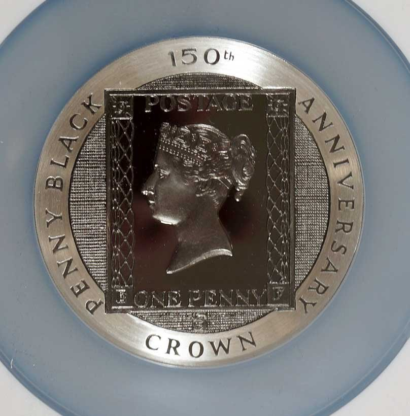 Isle of Man 1990 Silver 5 Cent Penny Black Anniversary