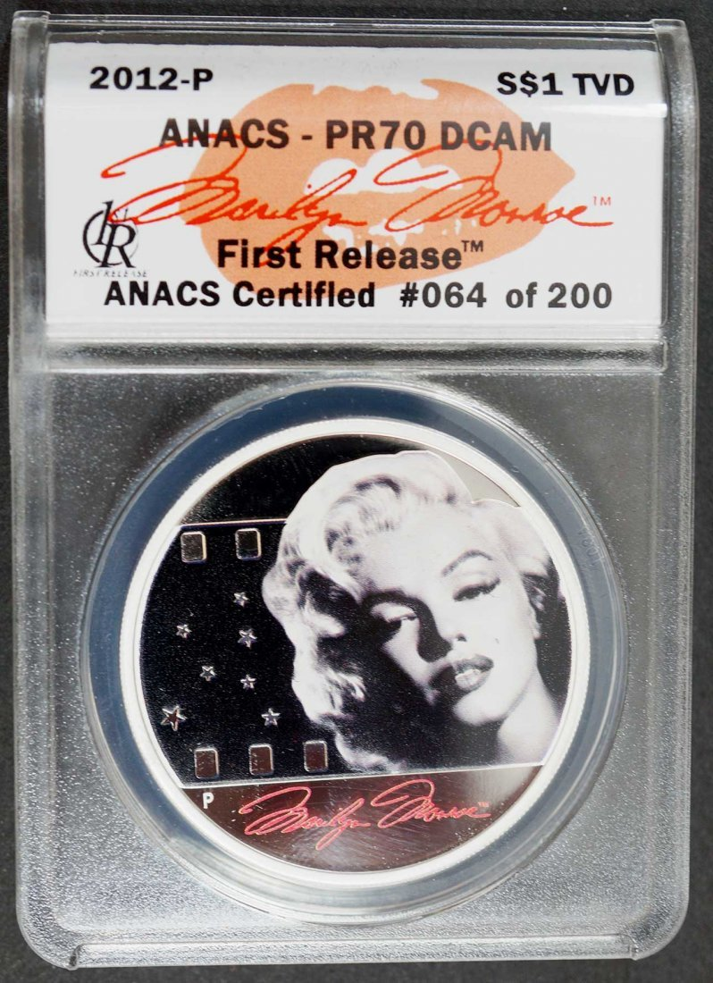 2012-P Marilyn Monroe Silver 1 ounce Proof First - 2