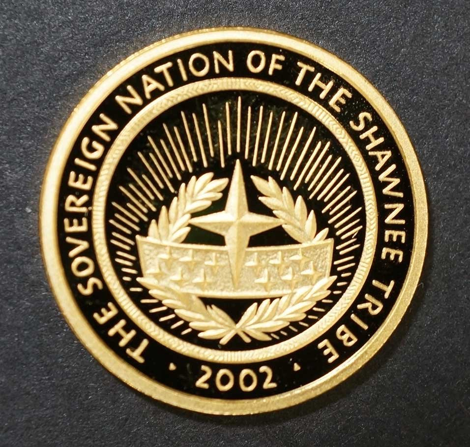 Gold 2002 Shawnee Nation proof Gold Coin, 1/5 ounce - 2