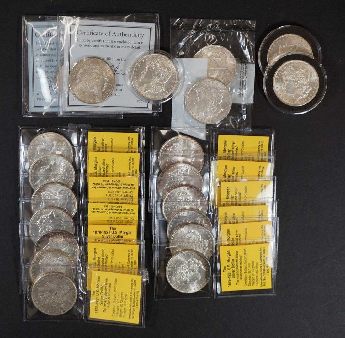 (20) Morgan US Silver Dollars assorted dates, mints &
