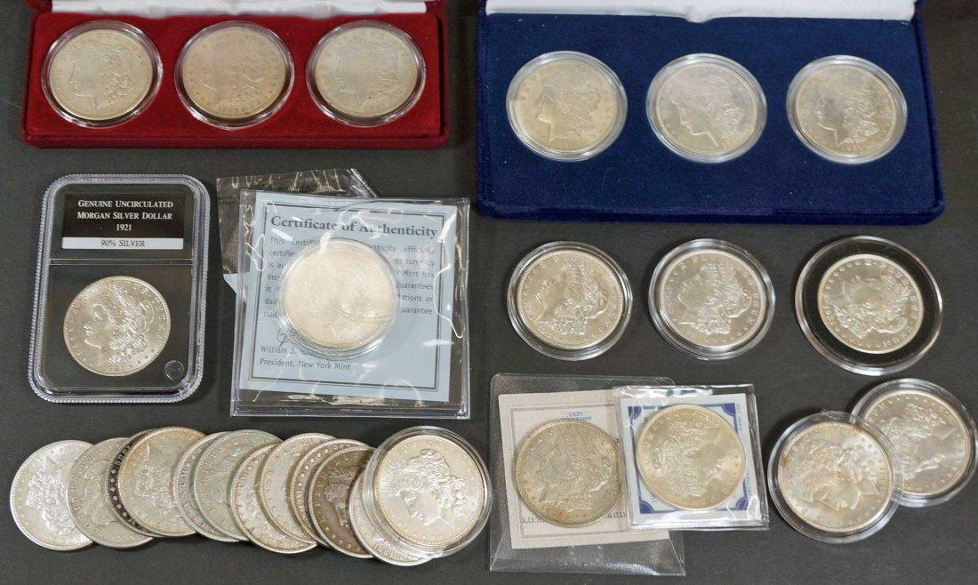(28) Morgan US Silver Dollars assorted dates, mints &