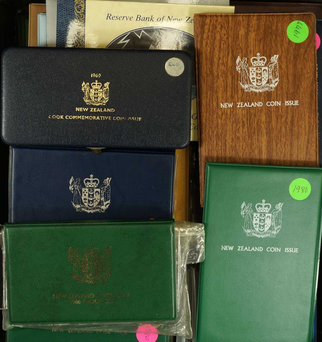 New Zealand (44) Proof Coin Sets, Commemorative Sets,