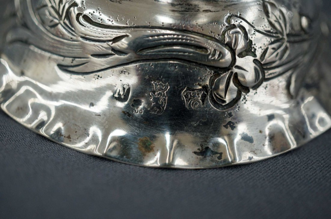 Late 17th Early 18th Century Dutch Silver Tulip Vase, - 2