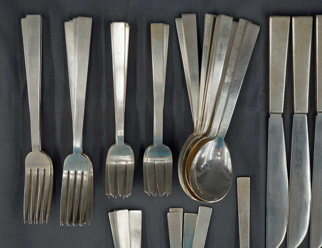 57pc Adra ''Moderne'' Sterling Silver Flatware Service,