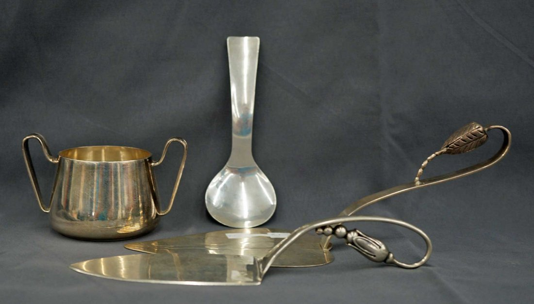 (4) pieces Mid Century Modern Sterling ServingPieces