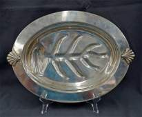 Tiffany & Co Sterling Silver Footed Small Meat Tray,