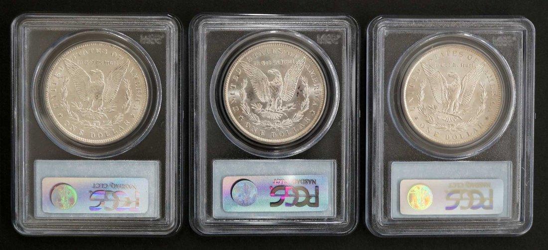 1883-1885 O Three Coin Set of Morgan Dollars. McClaren - 2