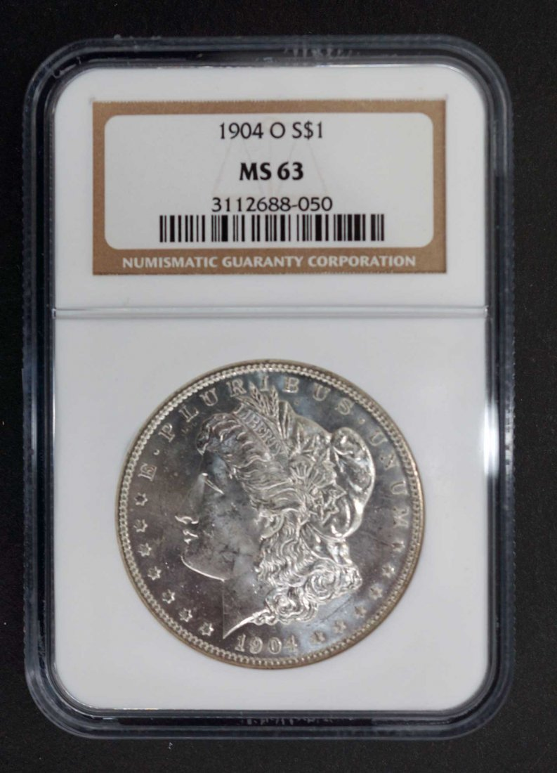 1904-O Morgan Dollar NGC MS63.