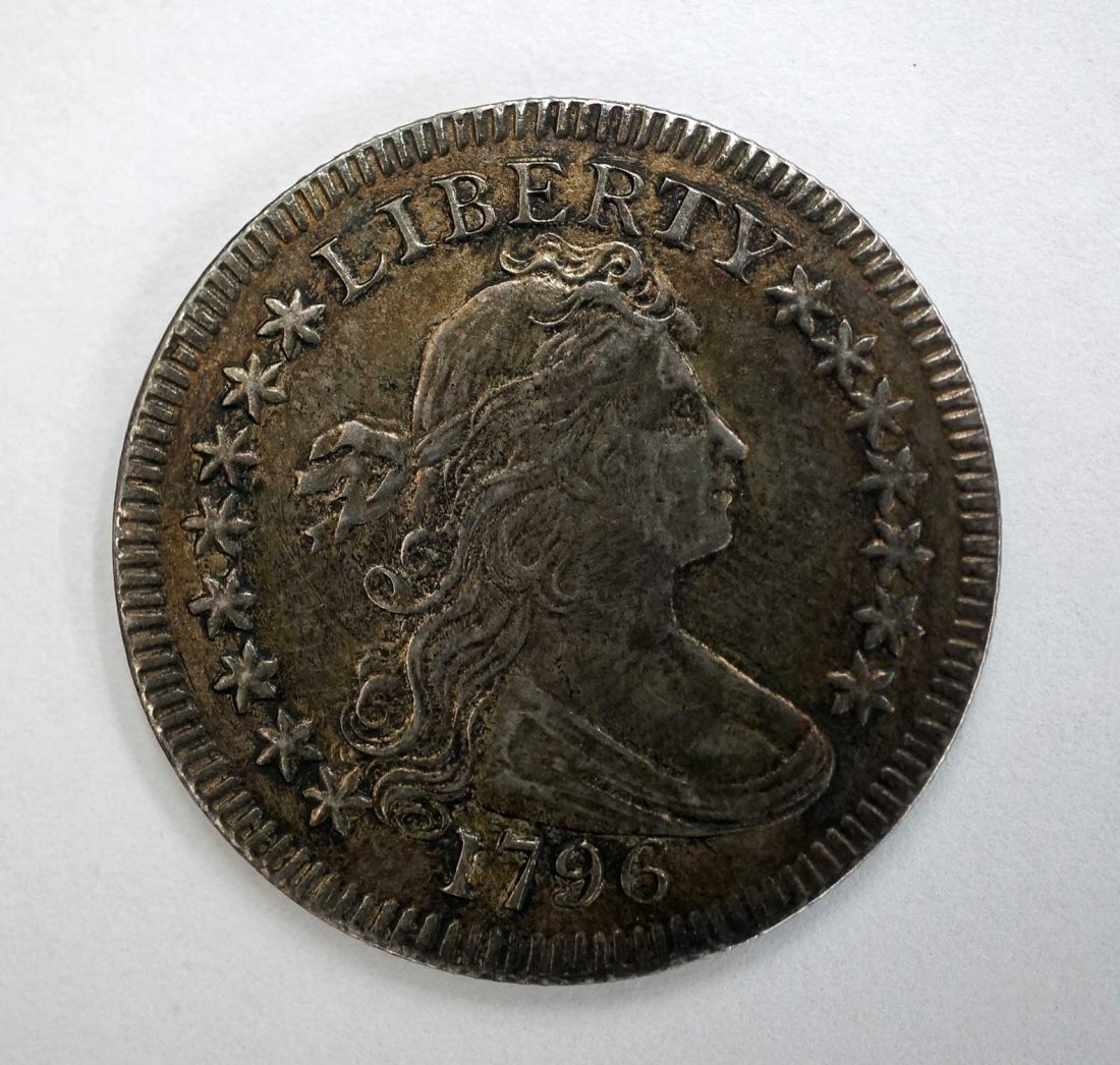 A Rare 1796 US Draped Bust Quarter Dollar. Nearly