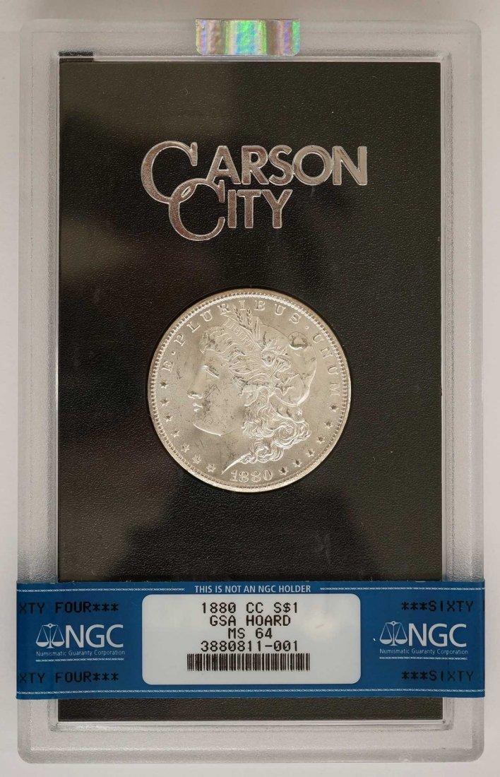 1880-CC GSA Morgan Dollar. NGC Banded MS64 w/Box and